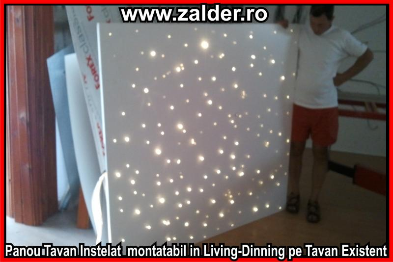 starry sky ceiling made of optic fiber in the kitchen in. Black Bedroom Furniture Sets. Home Design Ideas